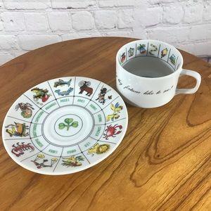 Vtg. Tea Leaf Reading Teacup and Saucer